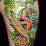 30 Tatuagens de camaleões