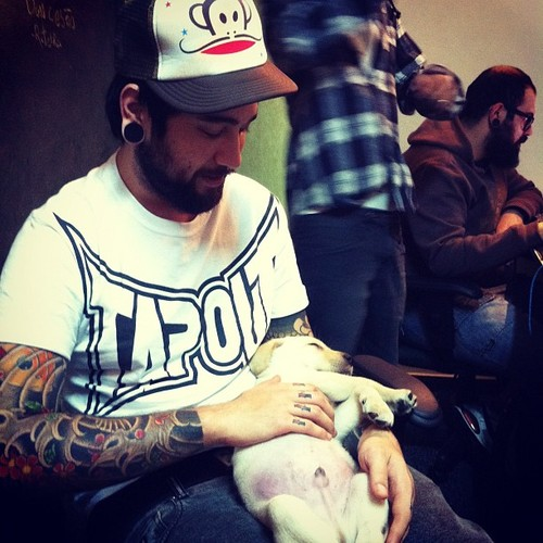 Tattooed People with Puppies (2)