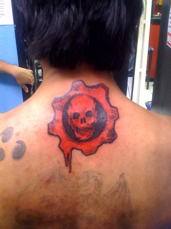 Gears of war logo locust tattoo for Gears of war logo tattoo