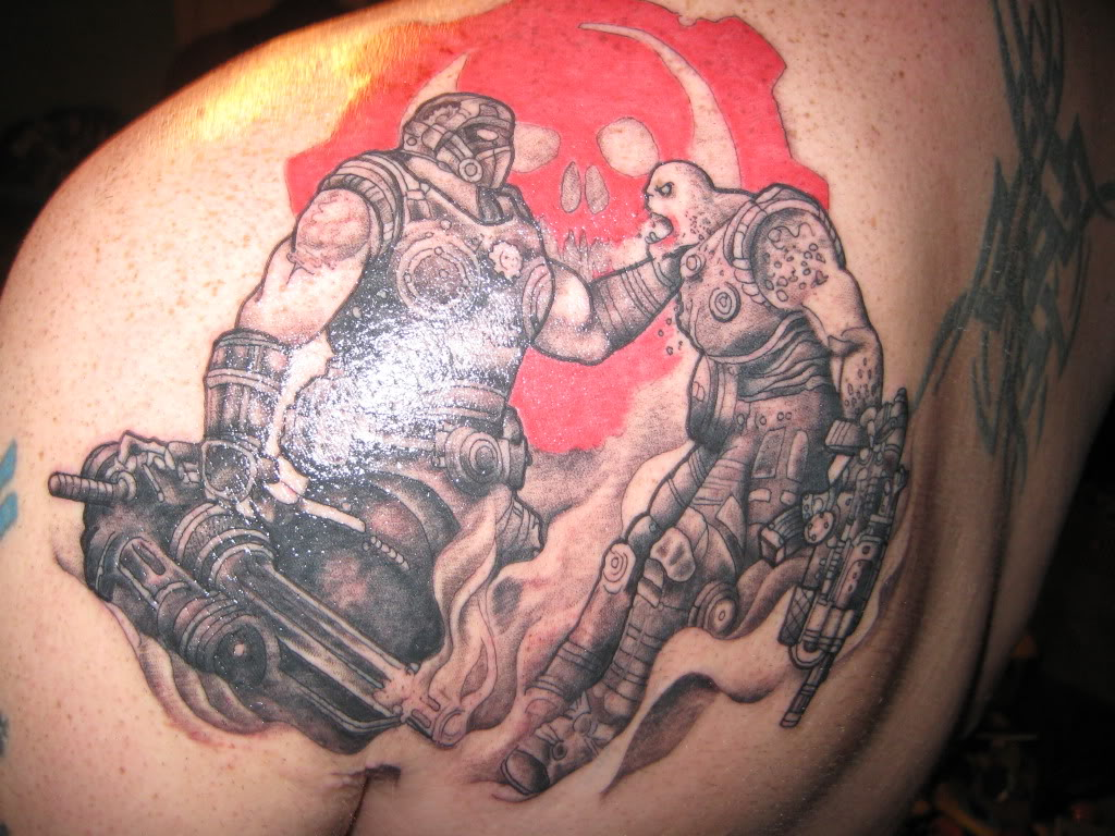 Beautiful gears of war tattoo photos styles ideas 2018 for Gears of war logo tattoo