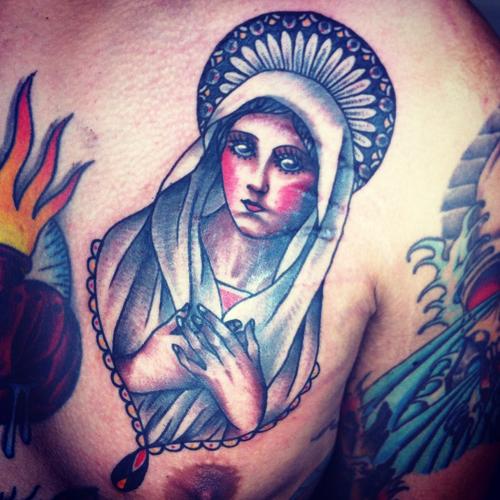 Tatuagens de Virgem Maria (50)