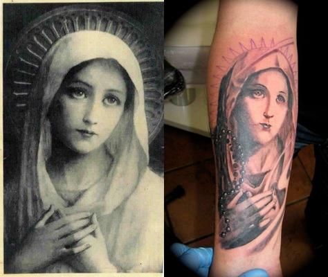 Tatuagens de Virgem Maria (43)