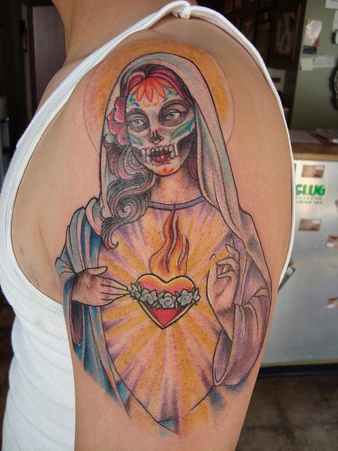 Tatuagens de Virgem Maria (11)