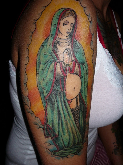 Tatuagens de Virgem Maria (7)