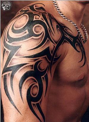 Tatuagem Tribal preto