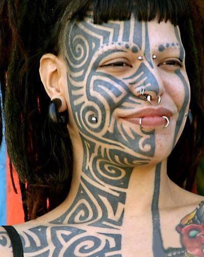 Tribal Face Tattoos