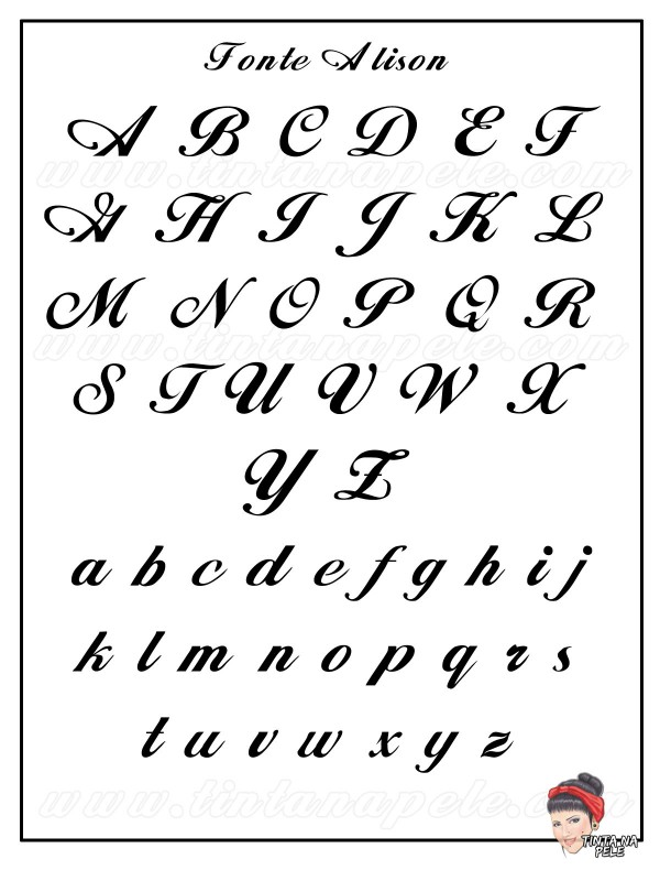Amado Formato de letras para tatuagem | Tenis Feminino Na Moda VX55