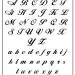 Letra para tatuagem: Fonte Alison