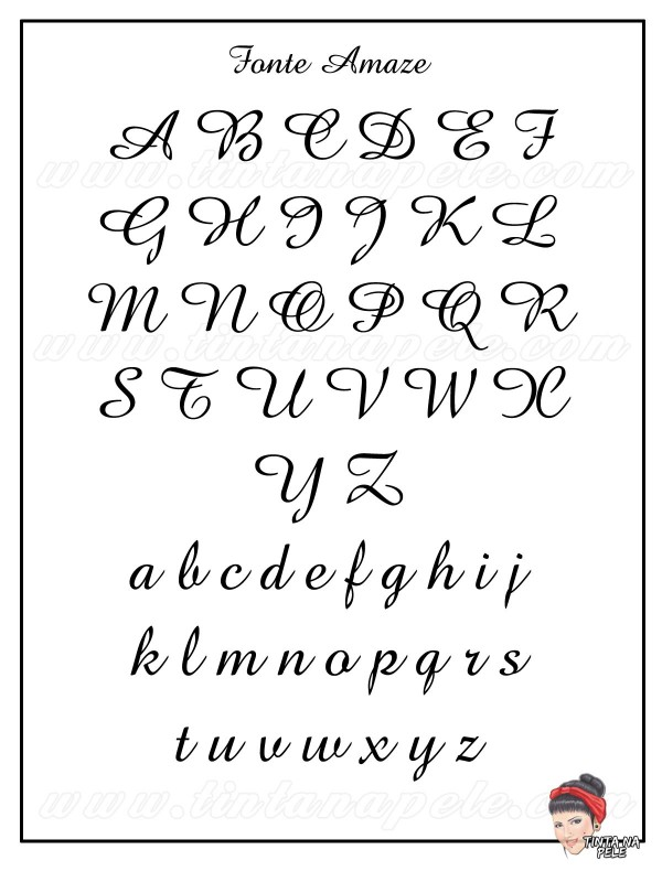 Letra para tatuagem, fonte amaze