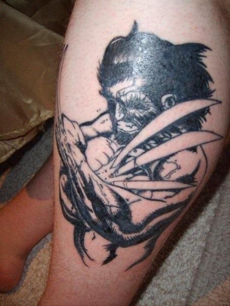 Tatuagens Do Wolverine Tinta Na Pele
