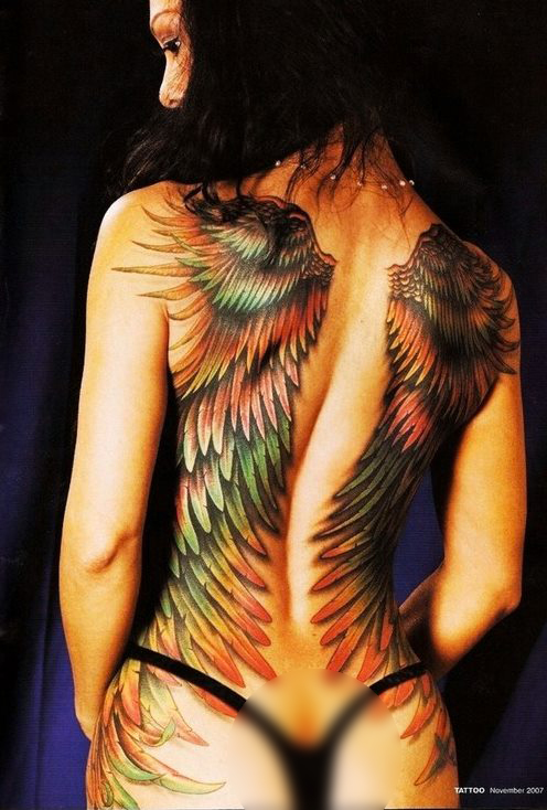 Fotos de tatuagens de asas 01