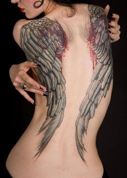 Fotos de tatuagens de asas 03