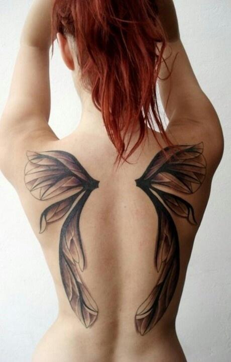 Fotos de tatuagens de asas 11