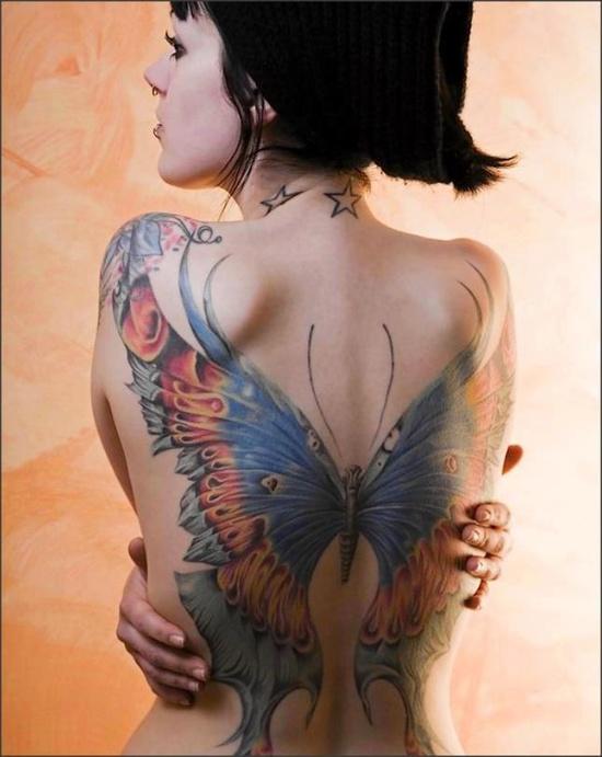 Fotos de tatuagens de asas 15