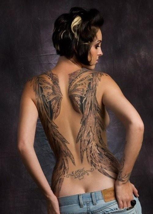 Fotos de tatuagens de asas 16