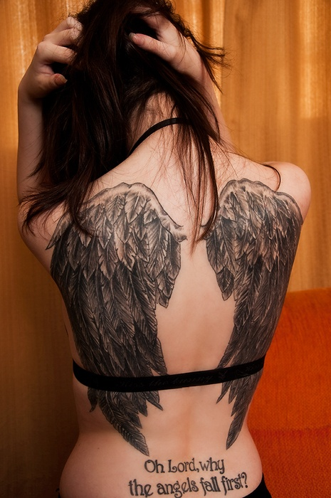 Fotos de tatuagens de asas 18