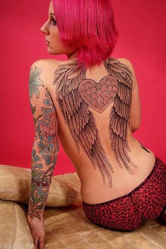 Fotos de tatuagens de asas 21