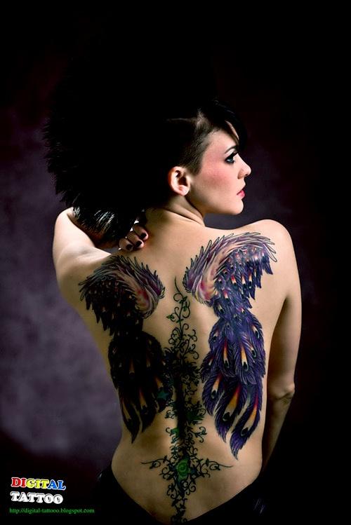 Fotos de tatuagens de asas 29