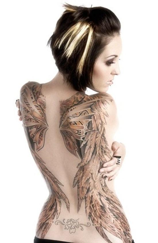 Fotos de tatuagens de asas 40