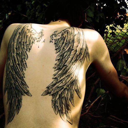 Fotos de tatuagens de asas 42
