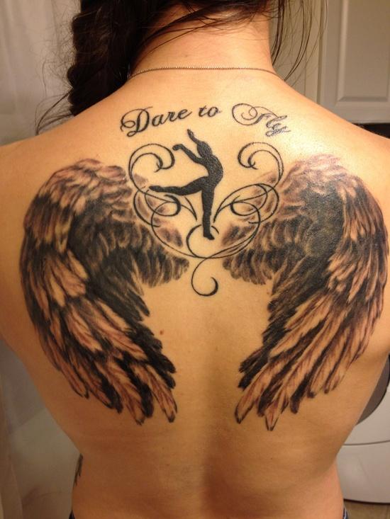 Fotos de tatuagens de asas 46