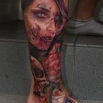 Tatuagens de zumbis (55 fotos)