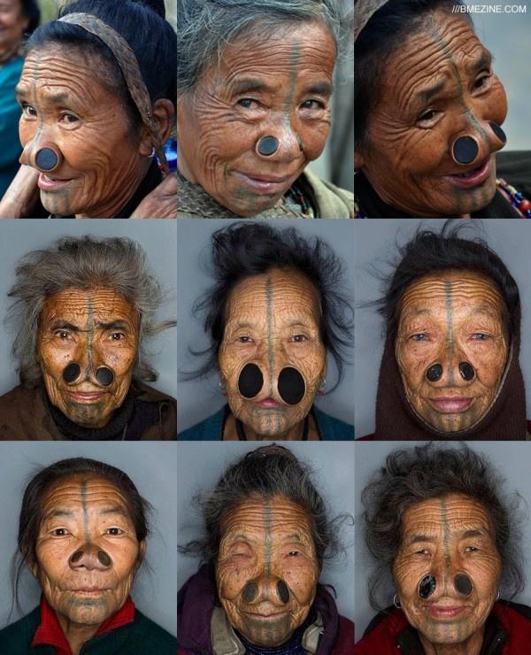 As mulheres da tribo Apatani 01