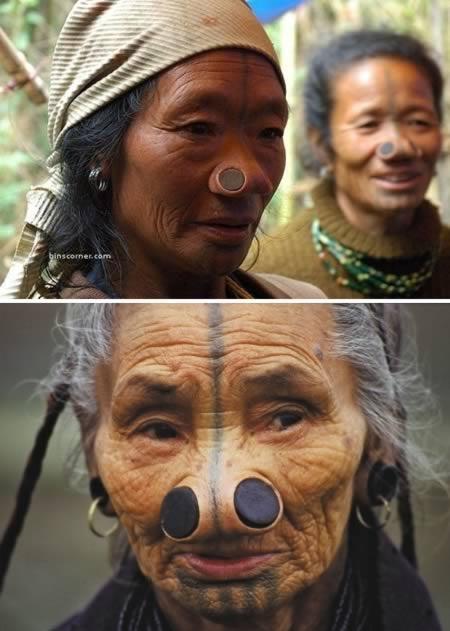 As mulheres da tribo Apatani 19