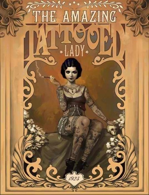 Cartaz Tattooed Lady