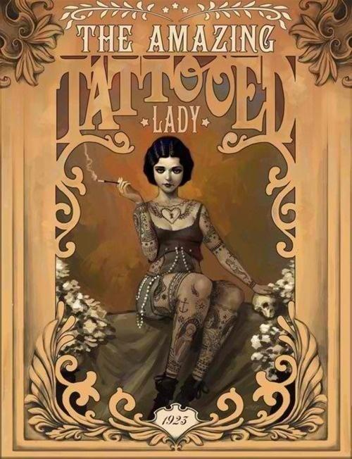 Cartaz Tattooed Lady