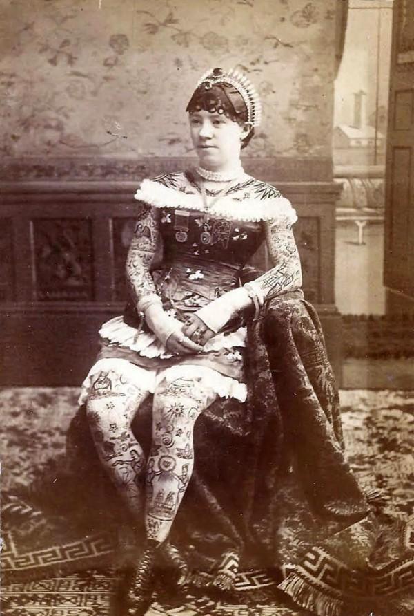 Damas tatuadas Irene Woodward 01
