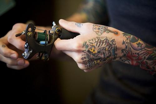 Fotos de tatuagens tiradas de perto 12