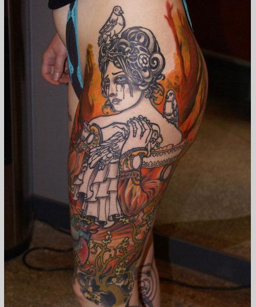 Tattoo na coxa (4)