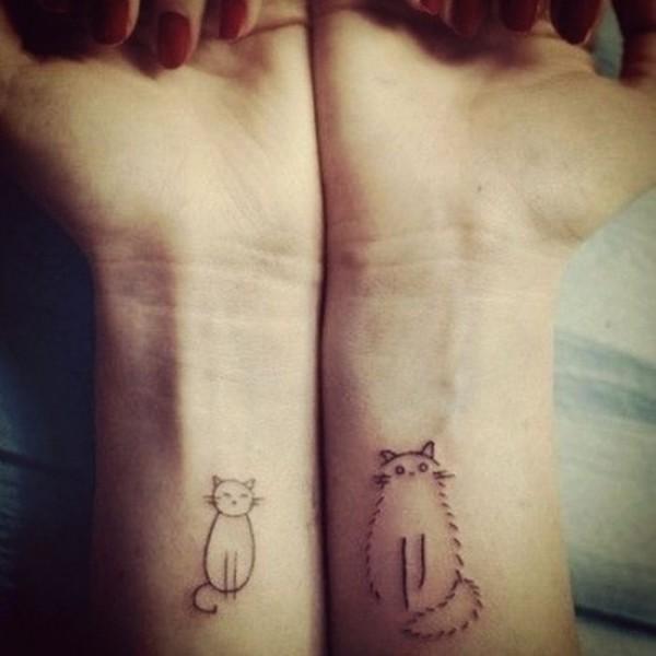 Lindas tatuagens de gatos 01