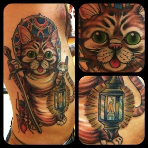 Lindas tatuagens de gatos 03