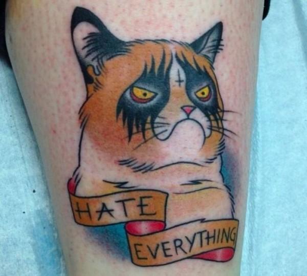 Lindas tatuagens de gatos 04