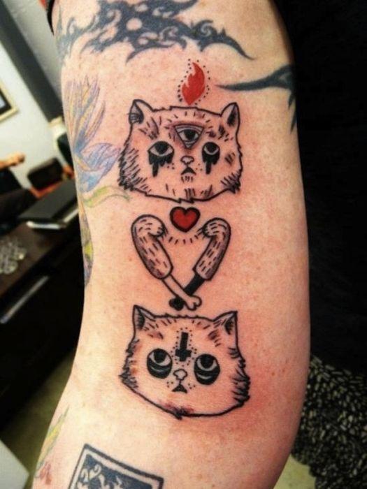 Lindas tatuagens de gatos 06