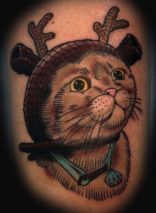 Lindas tatuagens de gatos 07