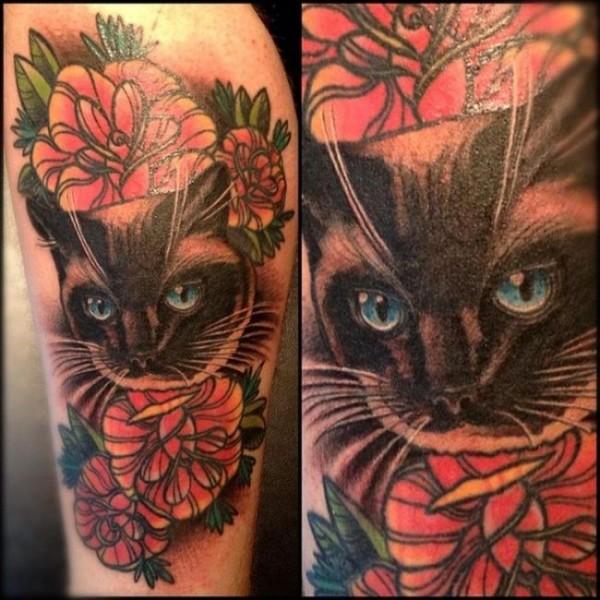 Lindas tatuagens de gatos 08