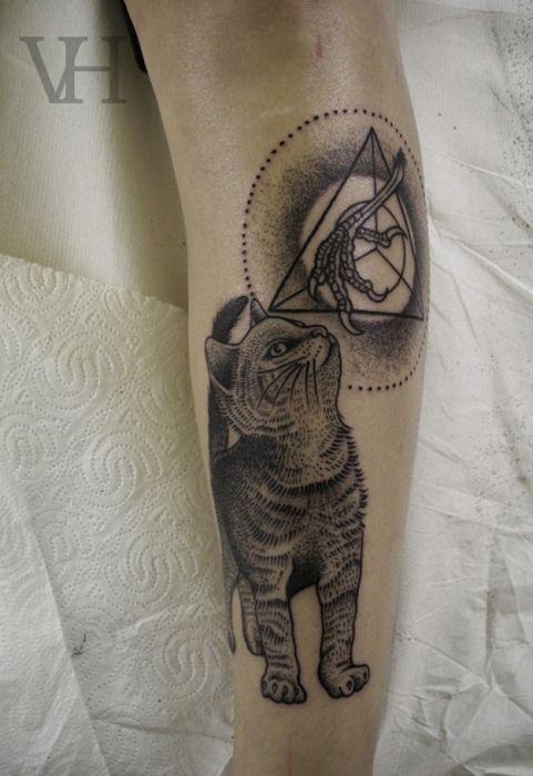 Lindas tatuagens de gatos 13