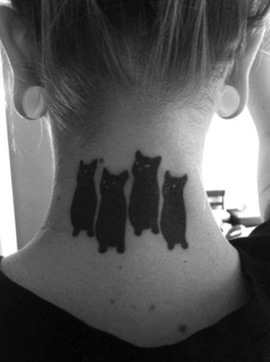 Lindas tatuagens de gatos 16