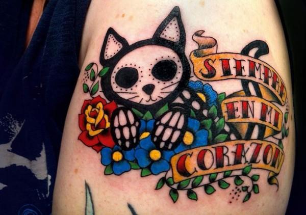Lindas tatuagens de gatos 22