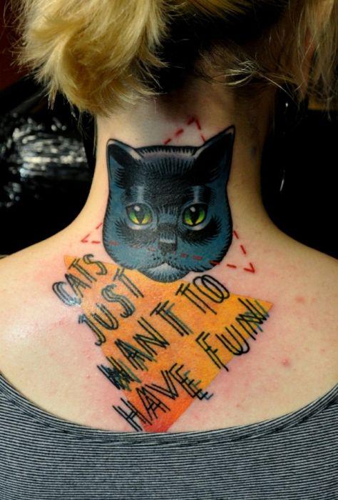 Lindas tatuagens de gatos 24