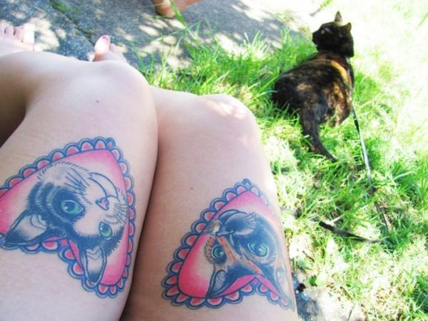 Lindas tatuagens de gatos 25