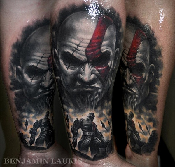 Tatuagens de Kratos do God Of War 01