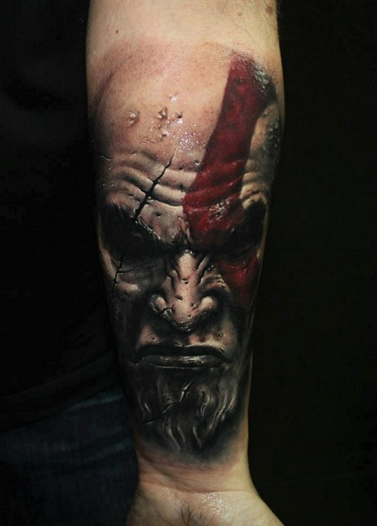 Tatuagens de Kratos do God Of War 03