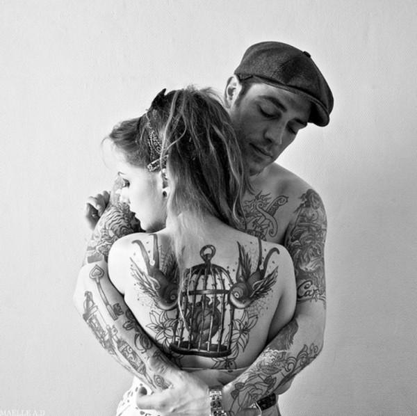 Fotos de casais tatuados para o dia dos namorados 06