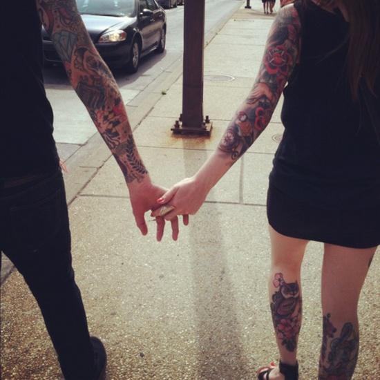 Fotos de casais tatuados para o dia dos namorados 12