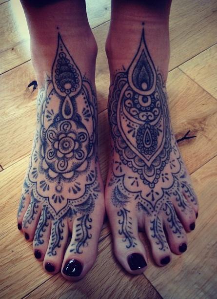 Fotos de tatuagens nos pes - Tattooed Feet 04