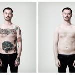 Fotógrafo cria projeto para mostrar a diferença que a tatuagem faz nas pessoas